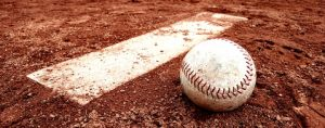 Close-Up Of Baseball Ball On Playing Field